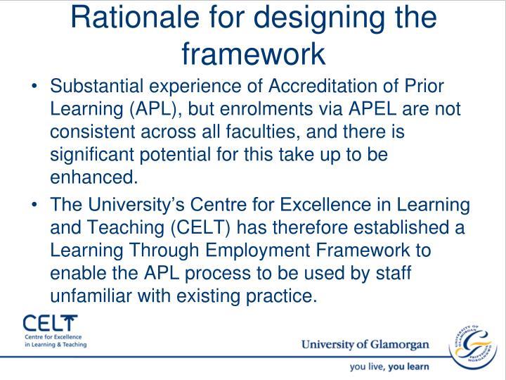 Rationale for designing the framework