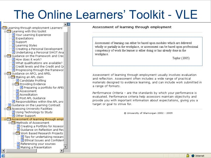 The Online Learners' Toolkit - VLE