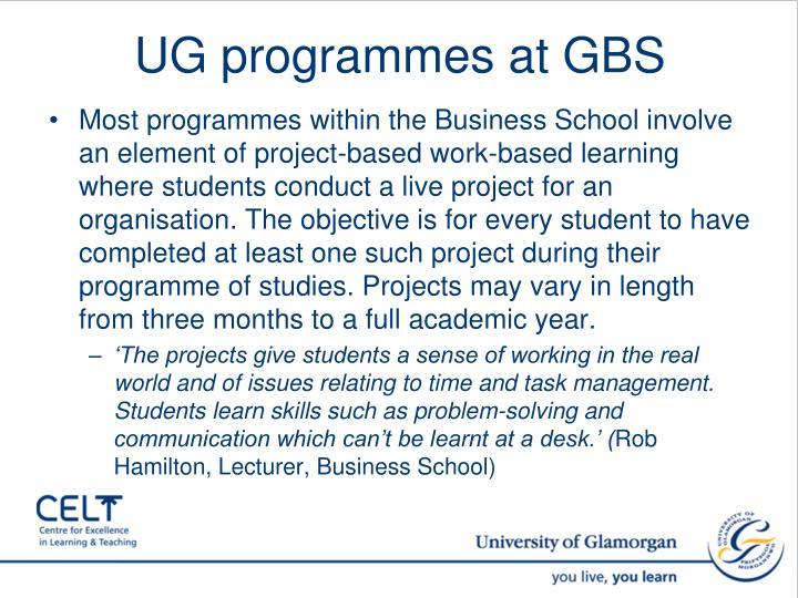 UG programmes at GBS