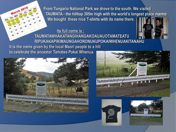 From Tungario National Park we drove to the south. We visited