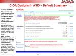 ic oa designs in asd default summary