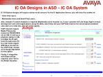 ic oa designs in asd ic oa system