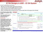 ic oa designs in asd ic oa system1