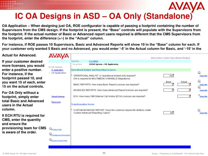 IC OA Designs in ASD – OA Only (Standalone)