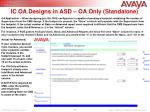 ic oa designs in asd oa only standalone