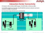 interaction center connectivity