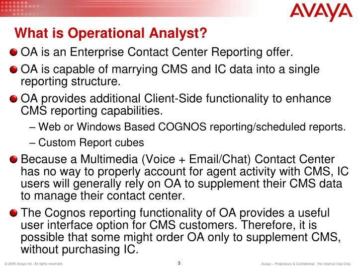 What is Operational Analyst?