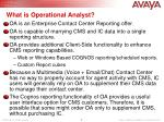 what is operational analyst
