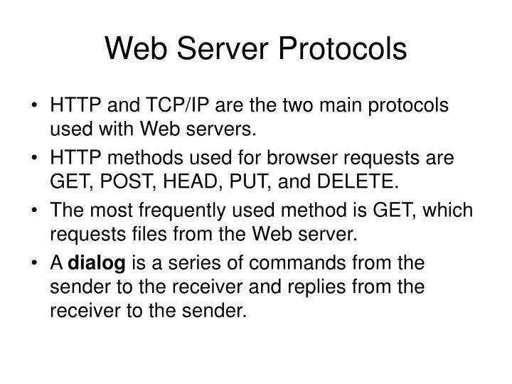 Web Server Protocols