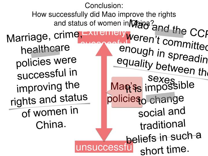 Mao and the CCP weren't committed enough in spreading equality between the sexes.