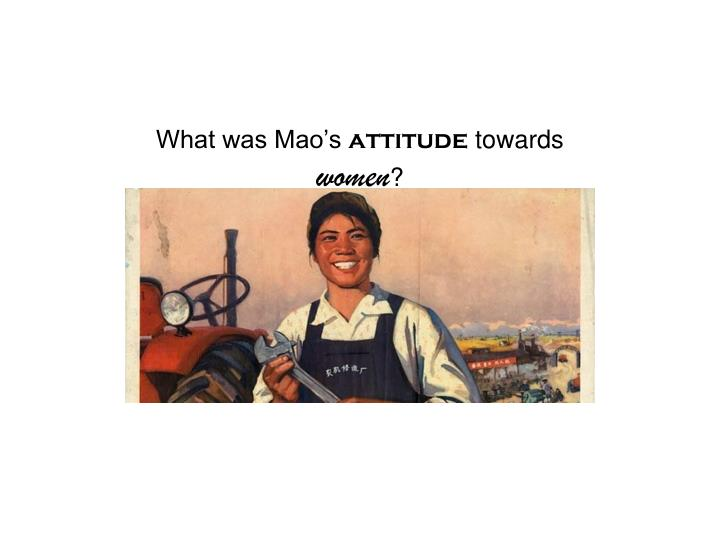 What was Mao's