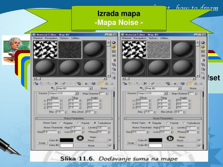 U grupi Show prozora Material/Map Browser potvrdi se polje Maps i 3D