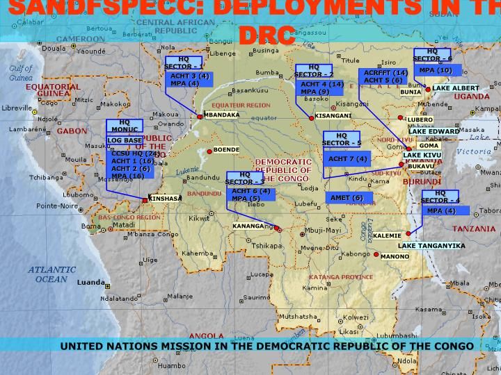 SANDFSPECC: DEPLOYMENTS IN THE DRC