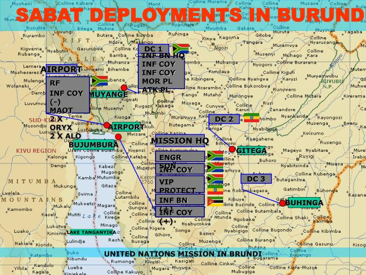 SABAT DEPLOYMENTS IN BURUNDI