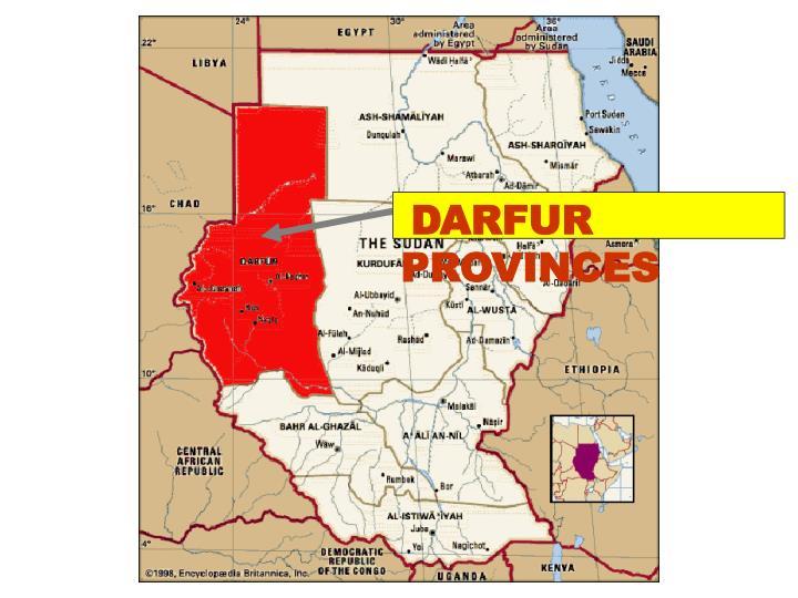 DARFUR PROVINCES