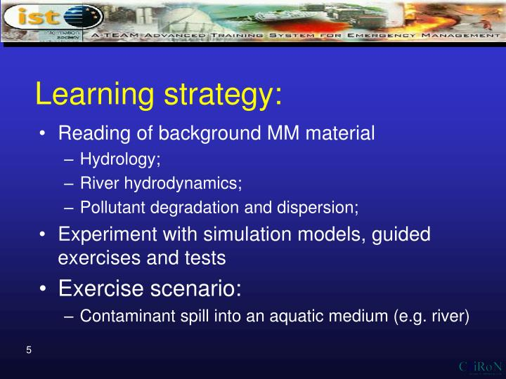 Learning strategy: