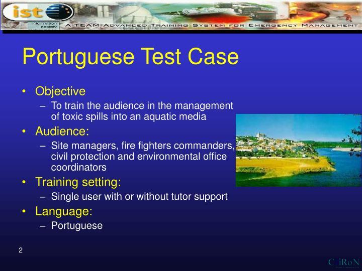 Portuguese Test Case