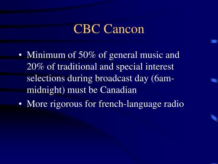 CBC Cancon