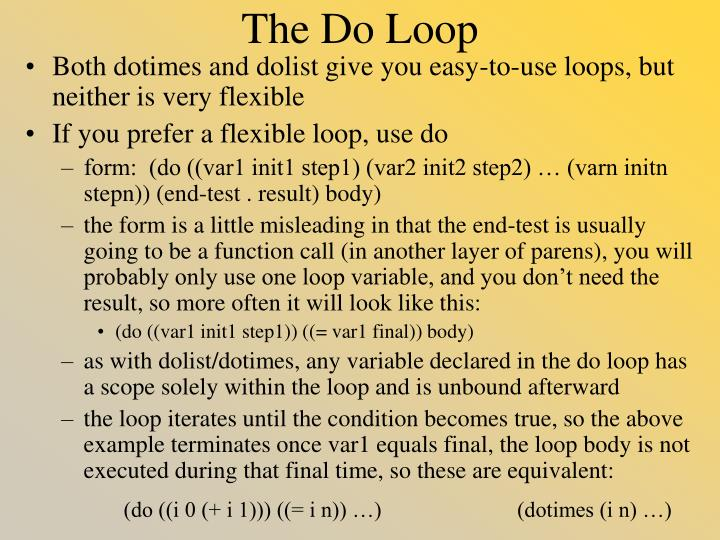 The Do Loop
