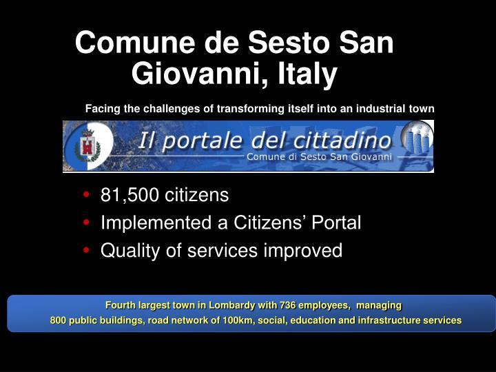 Comune de Sesto San Giovanni, Italy