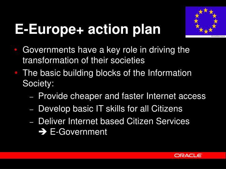 E-Europe+ action plan