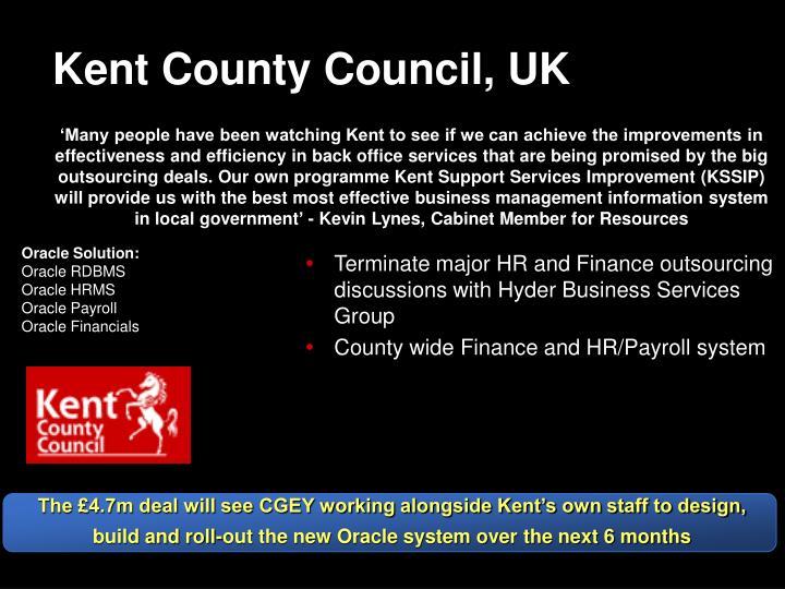 Kent County Council, UK