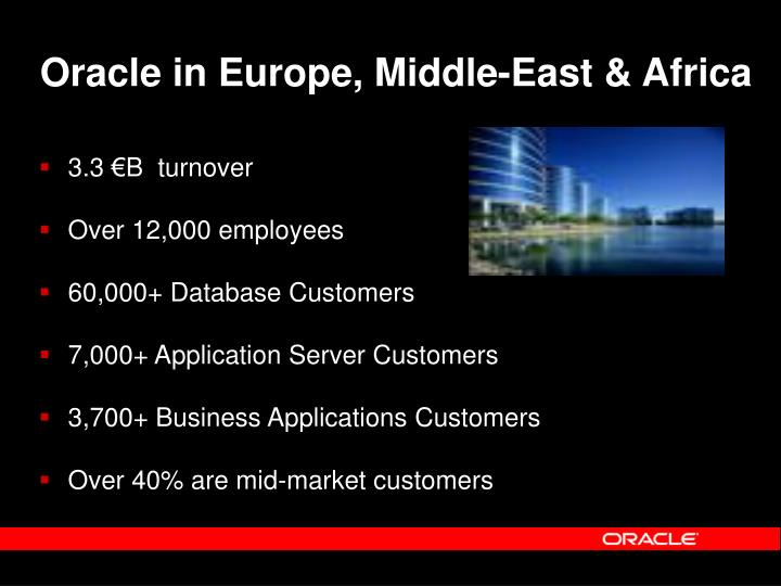 Oracle in Europe, Middle-East & Africa