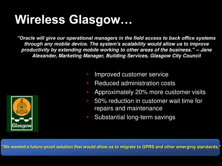 Wireless Glasgow…