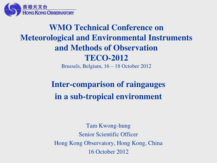 WMO Technical Conference on