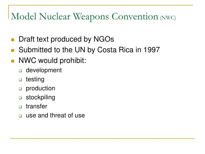 Model Nuclear Weapons Convention