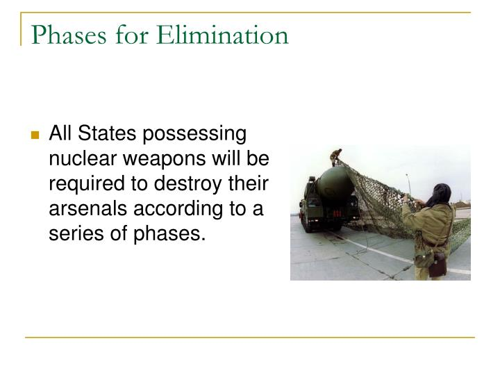 Phases for Elimination