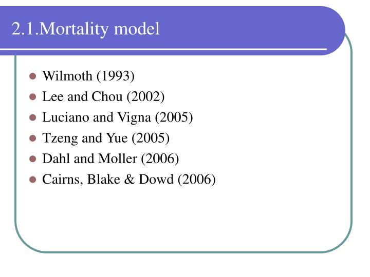 2.1.Mortality model