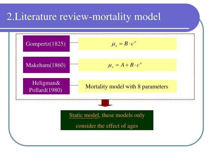 2.Literature review-mortality model
