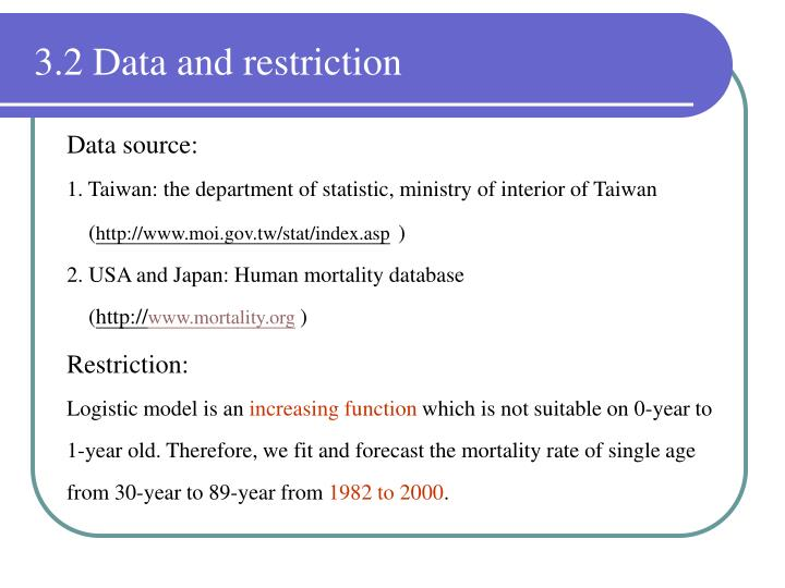 3.2 Data and restriction