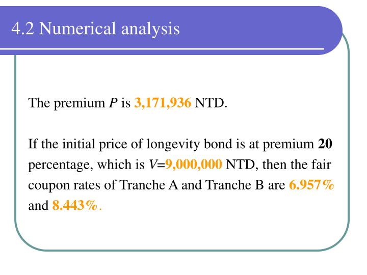 4.2 Numerical analysis