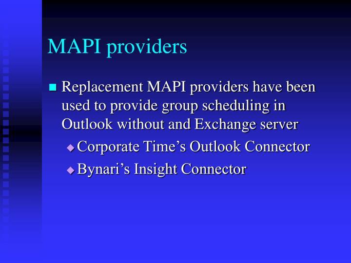 MAPI providers