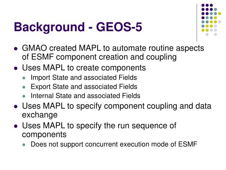 Background - GEOS-5