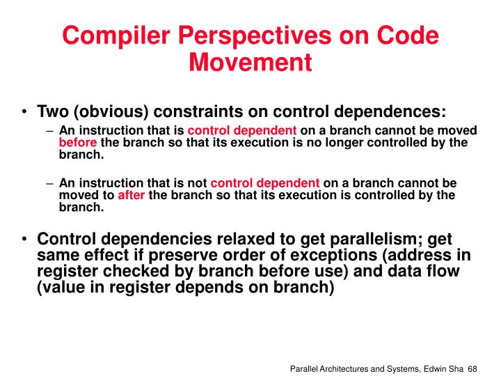 Compiler Perspectives on Code Movement