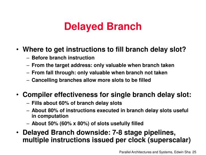 Delayed Branch