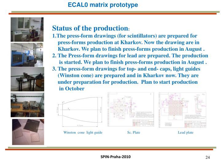 ECAL0 matrix prototype