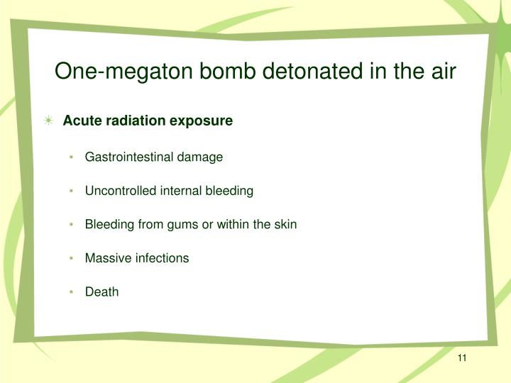 One-megaton bomb detonated in the air