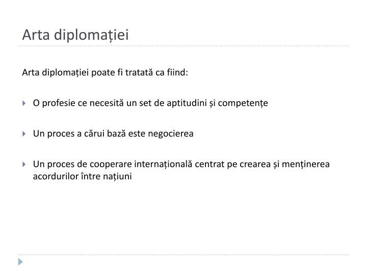 Arta diplomației