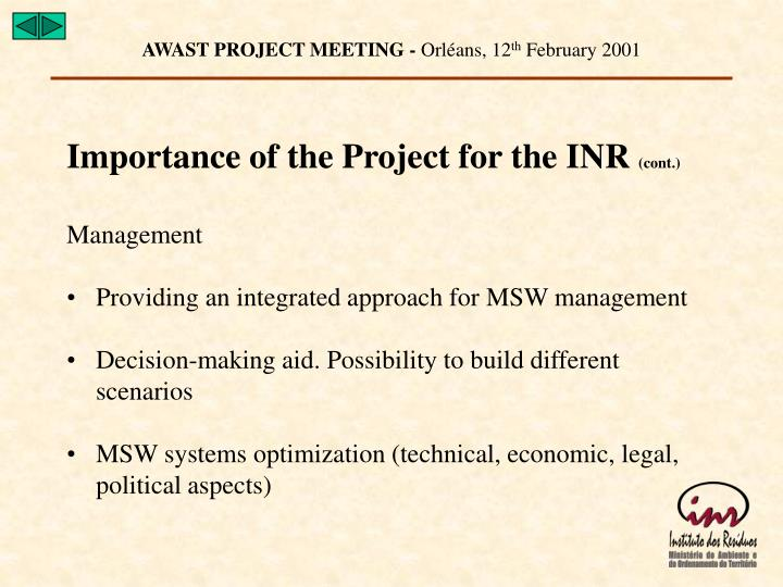 AWAST PROJECT MEETING -