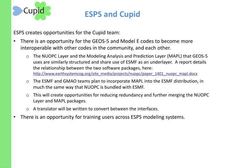 ESPS and Cupid