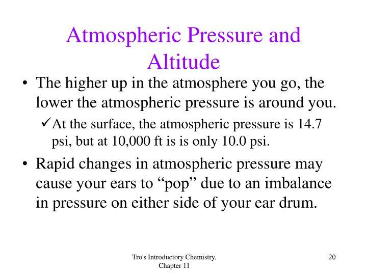Atmospheric Pressure and Altitude