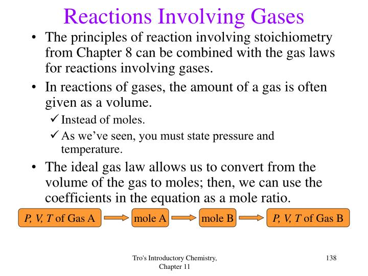 Reactions Involving Gases