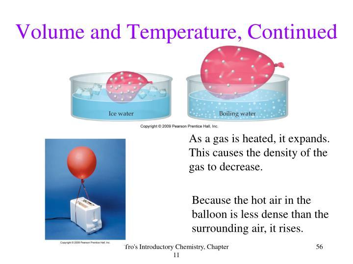 Volume and Temperature, Continued