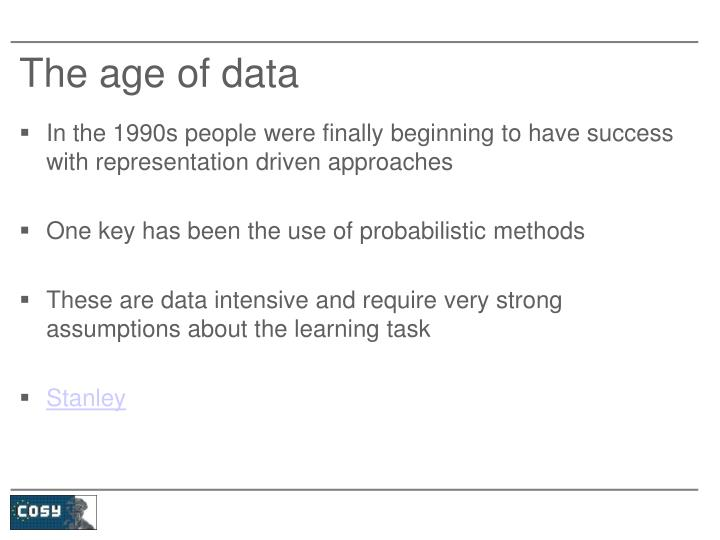 The age of data