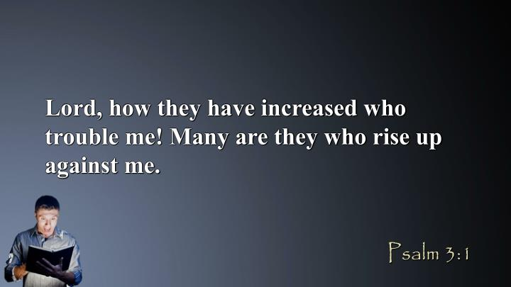 Lord, how they have increased who trouble me! Many are they who rise up against me.