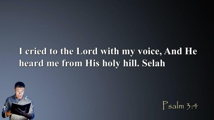 I cried to the Lord with my voice, And He heard me from His holy hill. Selah